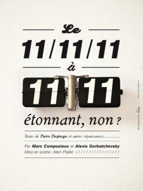 LE 11/11/11 À 11H11, ÉTONNANT, NON ? #Moissac @ Hall de Paris