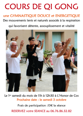 QI GONG #L'Honor-de-Cos @ Aux jardins