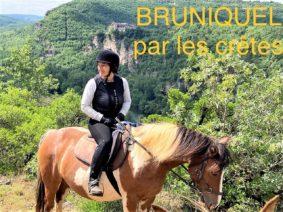 RANDO À CHEVAL À BRUNIQUEL #Bruniquel @ Domaine Équestre des Bastides