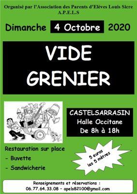VIDE-GRENIER DE l'APELS #Castelsarrasin @ Halle Occitane