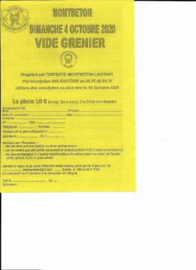 VIDE GRENIER #Montbeton