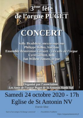3ème FÊTE DE L'ORGUE #Saint-Antonin-Noble-Val @ Eglise