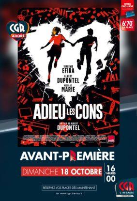 ADIEU LES CONS - EN AVANT-PREMIÈRE #Montauban @ CGR MONTAUBAN