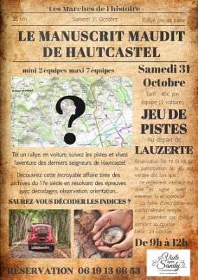 LE MANUSCRIT MAUDIT DE HAUTCASTEL #Lauzerte @ Lauzerte et alentours