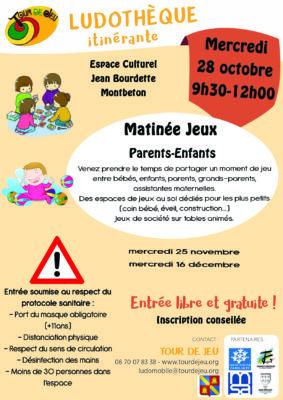MATINÉE JEUX PARENTS-ENFANTS #Montbeton @ Espace Culturel Jean Bourdette
