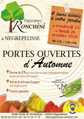 PORTES OUVERTES #Nègrepelisse @ Pépinières RONCHINI