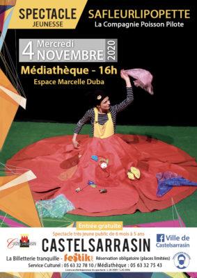 SAFLEURLIPOPETTE #Castelsarrasin @ Espace Marcelle Duba (Médiathèque)