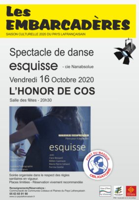 "SPECTACLE DE DANSE ""ESQUISSE"" NANABSOLUE - CIE SOPHIE CARLIN #L'Honor-de-Cos @ Léribosc"