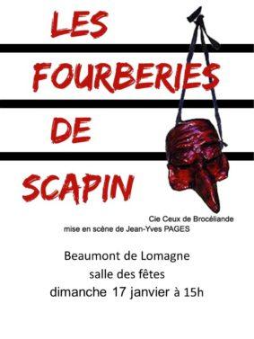 LES FOURBERIES DE SCAPIN #Beaumont-de-Lomagne @ Salle des Fêtes