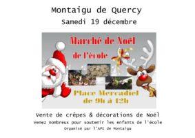 MARCHÉ DE NOËL DE L'ÉCOLE #Montaigu-de-Quercy