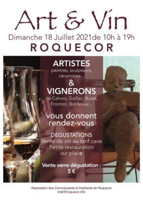 ART ET VIN - RENCONTRE ENTRE ARTISTES ET VIGNERONS #Roquecor