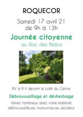 JOURNÉES CITOYENNES AU ROC DES NOBIS #Roquecor @ Café du Centre