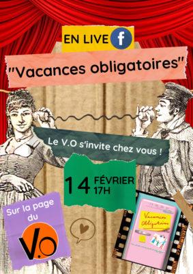 """LIVESTREAM """"VACANCES OBLIGATOIRES"""" #Montauban @ L'espace V.O"""