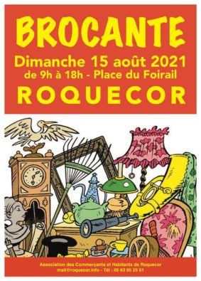 TRADITIONNELLE BROCANTE DE ROQUECOR #Roquecor