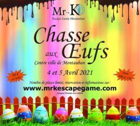 CHASSE AUX ŒUFS #Montauban @ Mr-K Escape Game