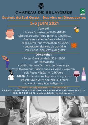 PORTES OUVERTES AU CHÂTEAU DE BELAYGUES #Labastide-Saint-Pierre @ Chateau de Belaygues