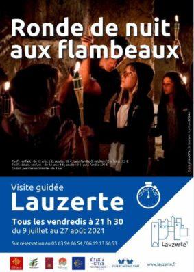 VISITE NOCTURNE AUX FLAMBEAUX #Lauzerte