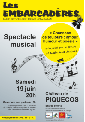 """SPECTACLE MUSICAL """"CHANSONS DE TOUJOURS : AMOUR, HUMOUR ET POÉSIE"""" #Piquecos @ Château de Piquecos"""