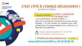 """VISITE COMMENTÉE : """"LA CENTRALE, ÇA ME PARLE !"""" #Valence d'Agen @ Espace découverte EDF"""