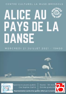 ALICE AU PAYS DE LA DANSE #Bressols @ Centre culturel La Muse