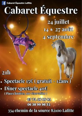 CABARET ÉQUESTRE #Lafitte @ Cabaret Equestre Lafitte