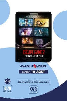 ESCAPE GAME 2 - EN AVANT-PREMIÈRE #Montauban @ CGR MONTAUBAN