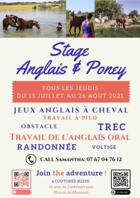 STAGE ANGLAIS & PONEY #Coutures @ La colline aux chevaux