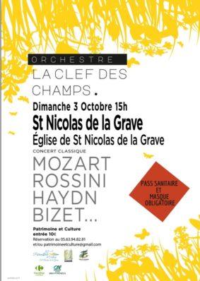"""CONCERT DE MUSIQUE CLASSIQUE """"LA CLÉ DES CHAMPS"""" #Saint-Nicolas-de-la-Grave"""