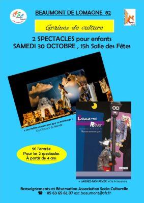 GRAINE DE CULTURE : SPECTACLES ENFANTS #Beaumont-de-Lomagne
