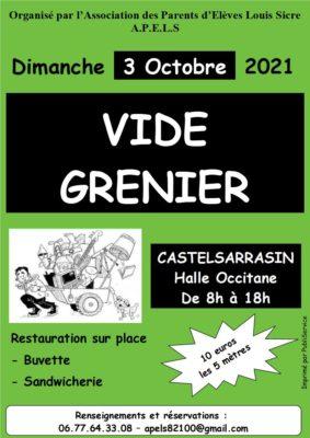 VIDE-GRENIER DE l'APELS #Castelsarrasin